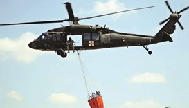 Choppers join battle on Kansas wildfire