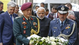 Modi honours Brussels victims with wreath at metro station