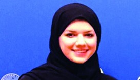 Young Qatari woman drives home road safety message