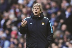 Pellegrini sets Man City title target of 75 points