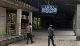 "The entrance of the ""Ashray"" Home in Jalpaiguri,the centre of an alleged child trafficking scandal"