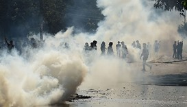 Police fire tear gas as B'desh protest turns violent