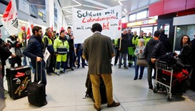 A warning strike by ground services, security inspection and check-in staff at Tegel airport