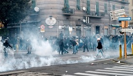Italy clashes trigger political storm