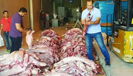 Meat with manipulated expiry labels seized