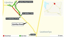 Traffic diversion on Lijmiliya road