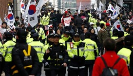 Park supporters march in Seoul against impeachment