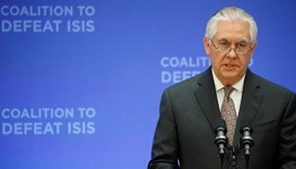 US Secretary of State Rex Tillerson delivers remarks at the morning ministerial plenary