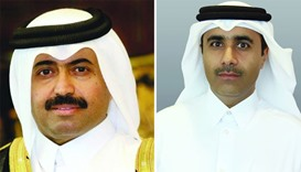 HE the Minister of Energy & Industry Dr Mohamed bin Saleh al-Sada (L), Kahramaa president Essa bin H