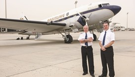 Flying over Doha unique experience: Breitling DC-3 pilot