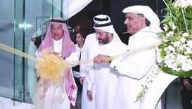 Just Real Estate chairman Nasser al-Ansari and other dignitaries during the ribbon-cutting ceremony