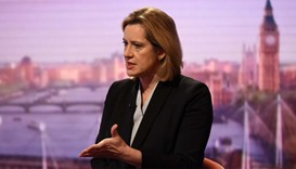 Britain's Home Secretary Amber Rudd