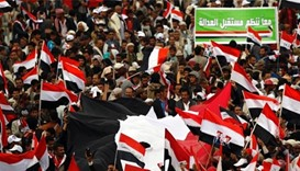 Yemenis rally in Sanaa on war's second anniversary