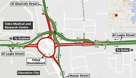 Traffic to be diverted near `Tilted' roundabout