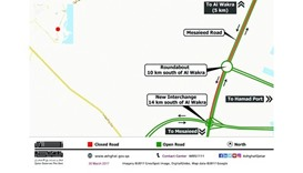 Diversion on Mesaieed Road for a year