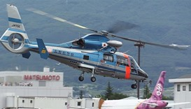 Helicopter with nine aboard crashes in Japan