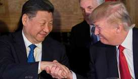 Xi Jinping and Donald Trump  (file photo)