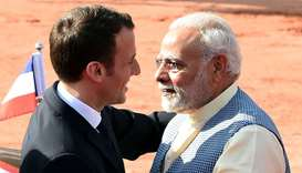Macron-Modi love on show as France courts India