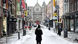 Snow cancels all flights at Dublin airport