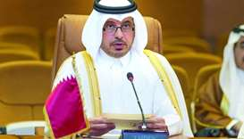 HE the Prime Minister and Minister of Interior Sheikh Abdullah bin Nasser bin Khalifa al-Thani chair