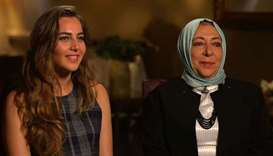 Orouba Barakat (R) and her daughter Halla Barakat