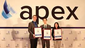 Four awards were presented to Qatar Airways at APEX Passenger Choice Awards ceremony in Shanghai yes