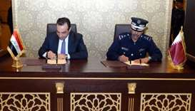 Director General of Public Security Saad bin Jassim al-Khulaifi and Undersecretary of the Iraqi Mini