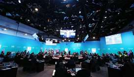 General view shows the Leaders Plenary Session of the Association of Southeast Asian Nations (ASEAN)