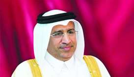 HE the Minister of Justice Dr Hassan Lahdan Saqr al-Mohannadi.