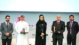 Her Highness Sheikha Moza bint Nasser honoured the winners of Best Research and Best Innovation Awar