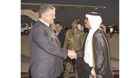 Ukrainian president arrives in Doha