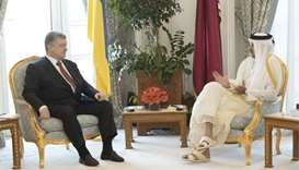 Emir and Poroshenko hold talks, witness signing of pacts