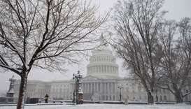 Flights cancelled as spring snow storm slams US Northeast