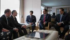 Foreign Minister meets French senate panel chief
