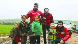QRCS provides winter aid for 25,000 displaced Syrians