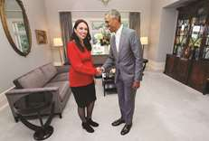 Obama shares parenting tips with New Zealand's Ardern
