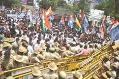 Protest at 'harassment' by tax officials