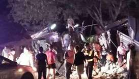18 killed in Thai double decker bus crash