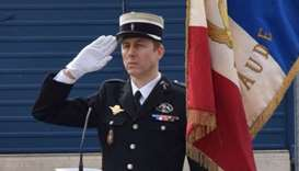 French Lieutenant Colonel Arnaud Beltrame who was killed after swapping himself for a hostage in a r