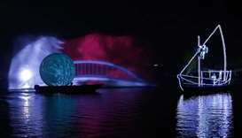 """""""Magical Journey"""" show at Aspire Park Lake Festival"""