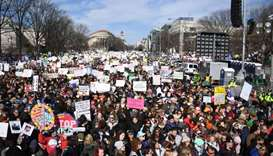 Crowds gather for largest US gun control protest in a generation