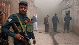 At least one dead in blast near mosque in Afghan city
