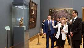 Emir visits Russian National Museum for Fine Art