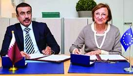 Qatar's Representative to the Council of Europe, Brigadier Ibrahim al-Mohannadi, signed the agreemen