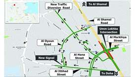 Umm Lekbah interchange's exit and service road to close