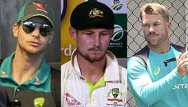 Steve Smith, Cameron Bancroft and David Warner
