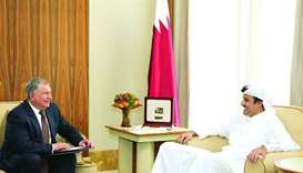 Emir meets chief executive of Russia's Rosneft