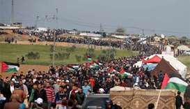 Israeli forces kill 12 Palestinian protesters on Gaza border