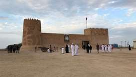 The workshop on traditional building methods took place in the surroundings of Al Zubarah Fort.