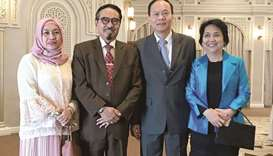 Indonesian envoy hosts lunch for outgoing Thai ambassador